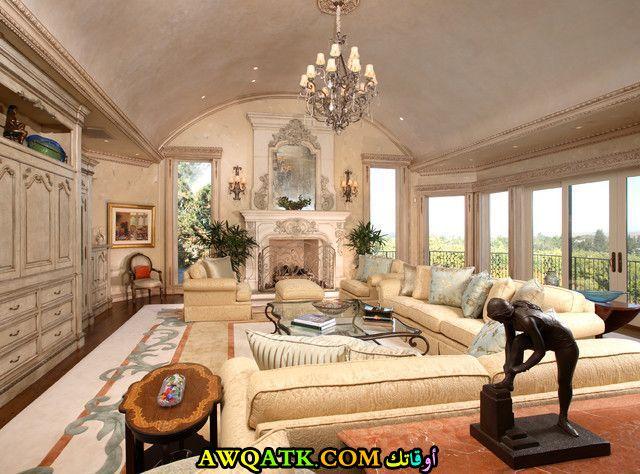 غرفة معيشة فرنسية فخمة وشيك