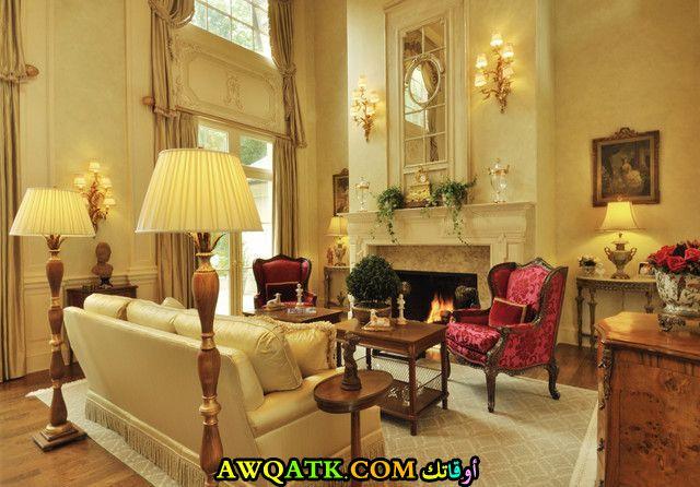 غرفة معيشة فرنسية قمة في الجمال