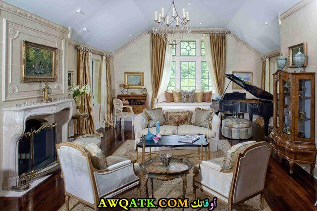 غرفة معيشة فرنسية جديدة وعصرية