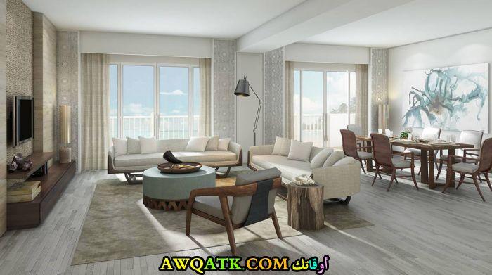غرفة معيشة ليبية جديدة وعصرية