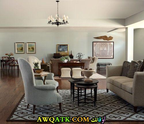 غرفة معيشة هادئة تناسب الذوق الهادي