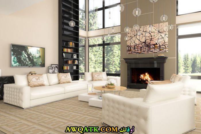 غرفة معيشة أنيقة وجميلة