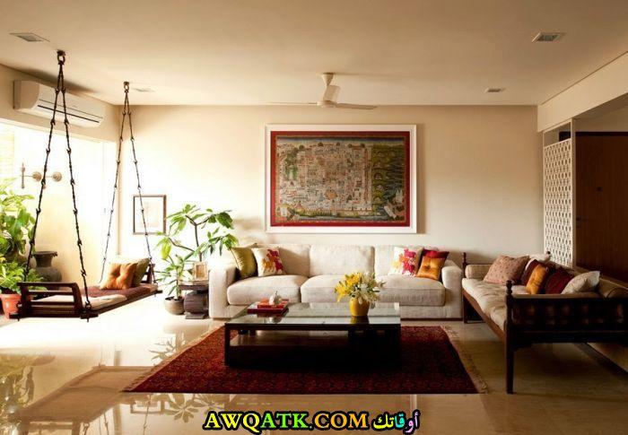 غرفة معيشة هندية حلوة وشيك