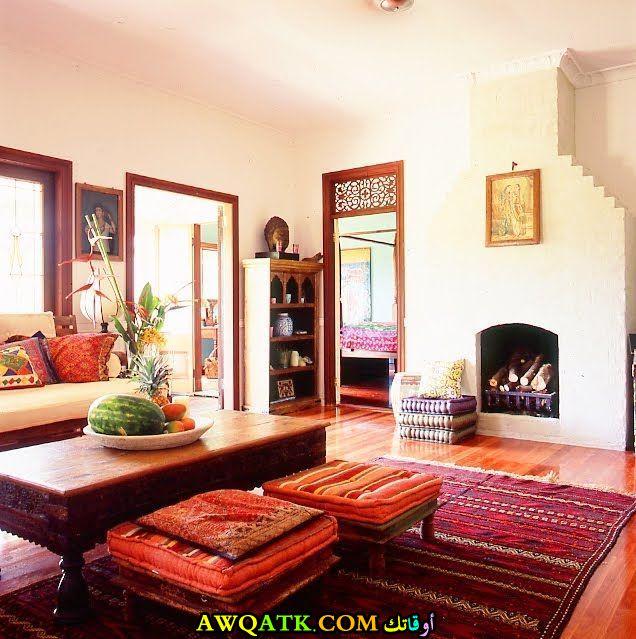 غرفة معيشة هندية شيك جداً