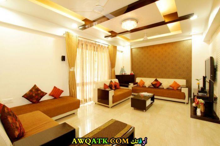 غرفة معيشة هندية أنيقة وجميلة