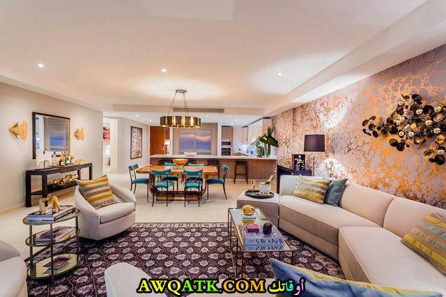 غرفة معيشة هوم بلازا فخمة جداً وشيك
