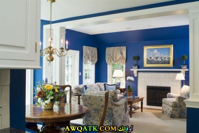 غرفة نوم باللون الأزرق حلوة جداً