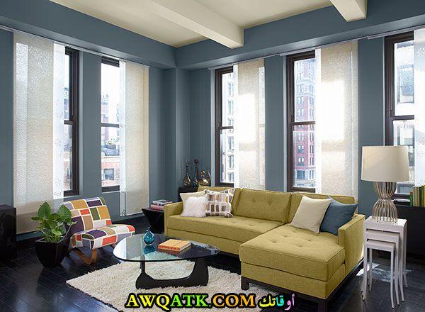 غرفة نوم باللون الأزرق هادية ورقيقة جداً