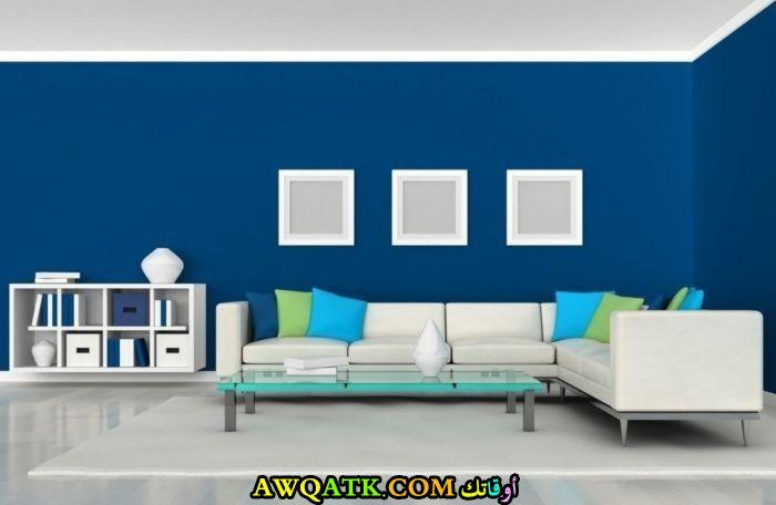 غرفة نوم باللون الأزرق هادية وجميلة جداً