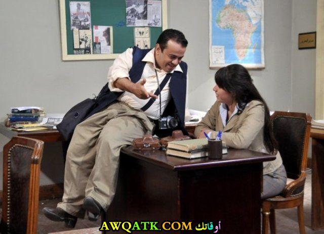 صورة جديدة للفنان مجدي عبد الحليم داخل مسلسل
