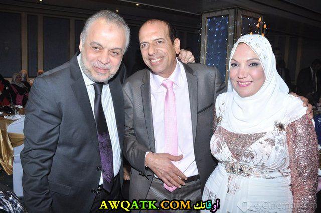 صورة عائلية للفنان محمد الصاوي مع زوجته