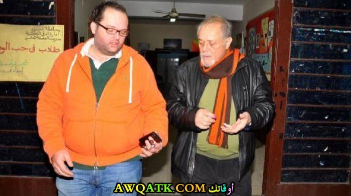 محمد محمود عبد العزيز مع والد الفنان الراحل محمود عبد العزيز