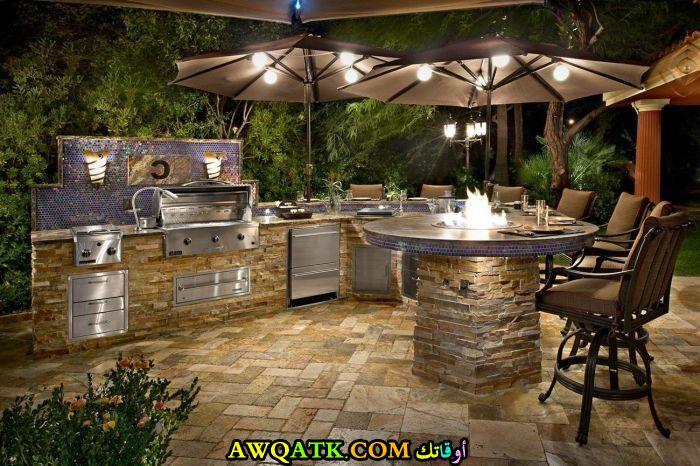 مطبخ خارجي في قمة الجمال والشياكة