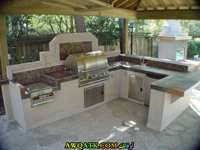 مطبخ خارجي بسيط وجميل