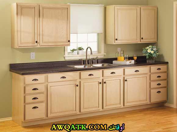 مطبخ للخزائن باللون البيج جميل جداً