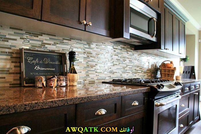 مطبخ خزف بسيط جداً جميل