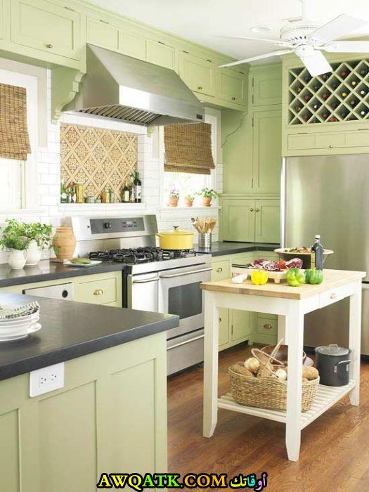مطبخ باللون الأخضر مميز جداً وجديد 2018