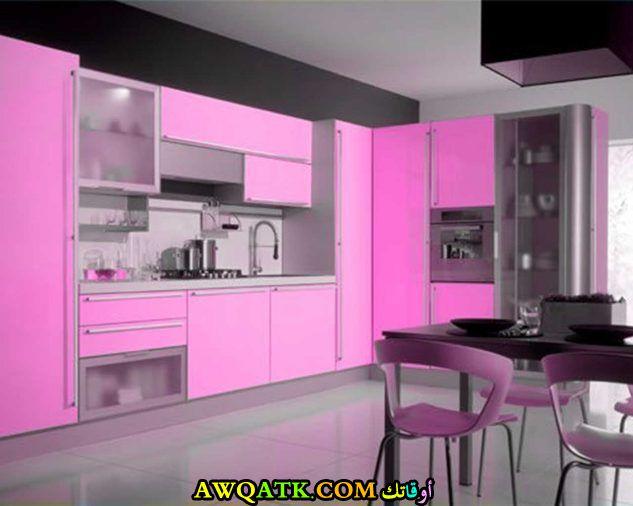 من أجمل وأحلي مطابخ باللون الزهري