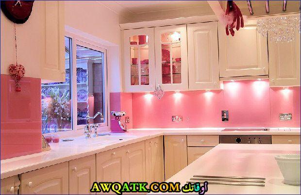 مطبخ باللون الزهري جديد 2018