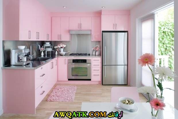 مطبخ باللون الزهري روعة وجديد