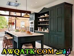 مطبخ قمة في الشياكة والروعة باللون الزيتي