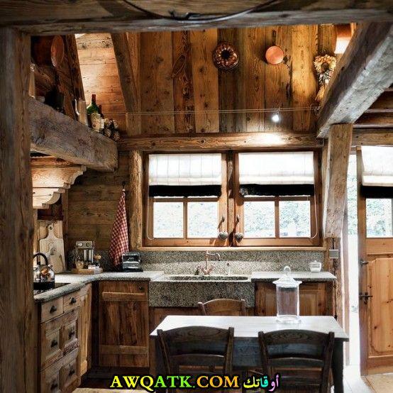مطبخ شاليهات جميل ويناسب المساحة الصغيرة