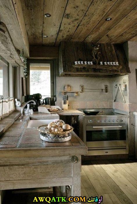 مطبخ شاليهات بسيط وجميل