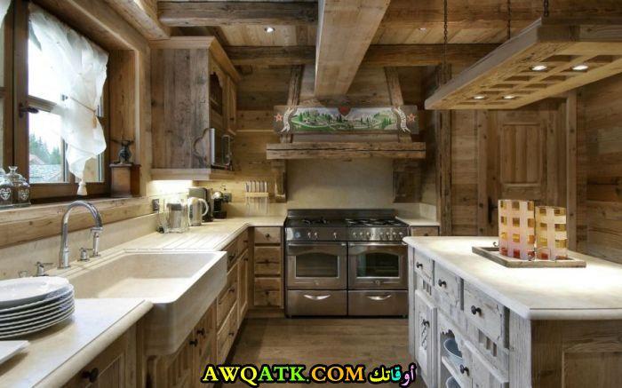 مطبخ شاليهات جميل وجديد