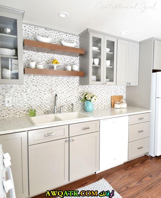 مطبخ فورمايكا باللون الأبيض جديد 2018