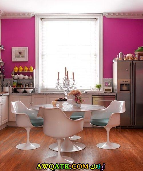 مطبخ باللون الفوشيا في منتهي الجمال