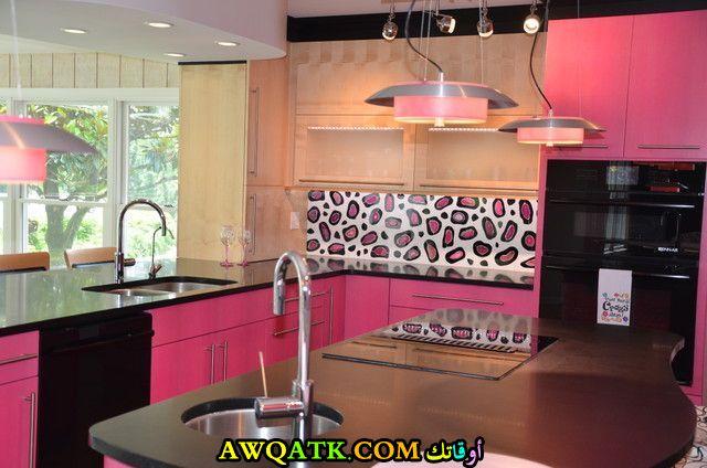 مطبخ باللون الفوشيا روعة