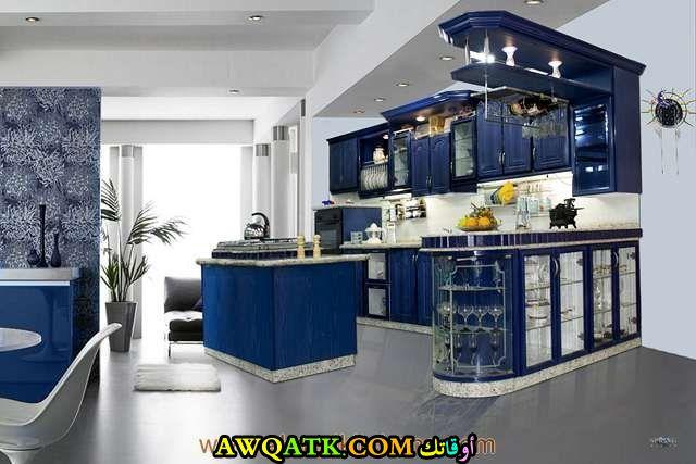 مطبخ هافانا باللون الأزرق روعة