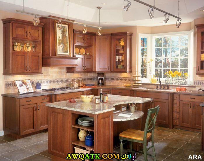 مطبخ هوم ديزاين خشبي