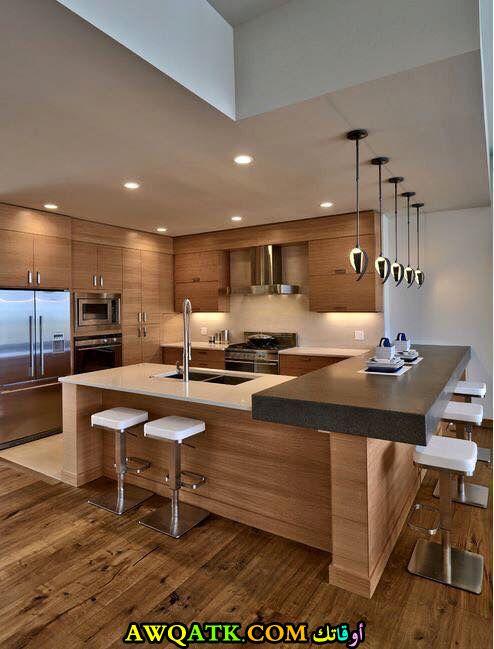 مطبخ هوم ديزاين باللون البيج جميل وشيك