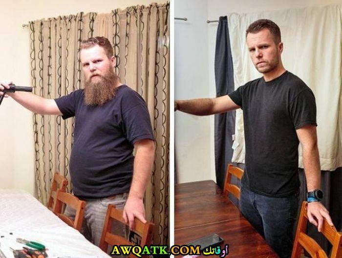 من سمين الى شاب وسيم