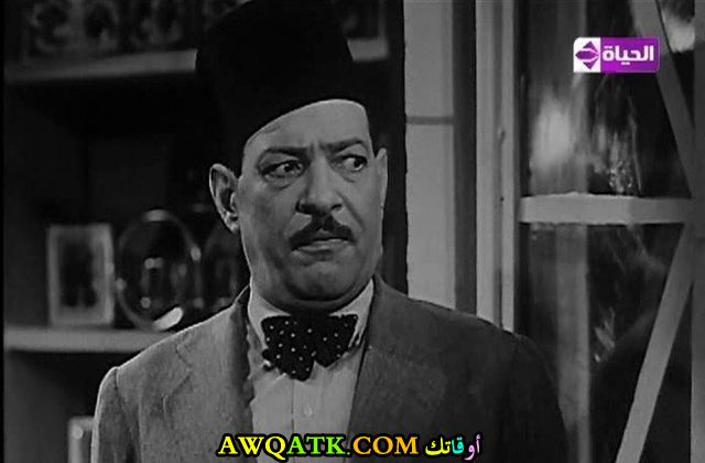 صورة الفنان المصري نجيب الريحاني داخل فيلم