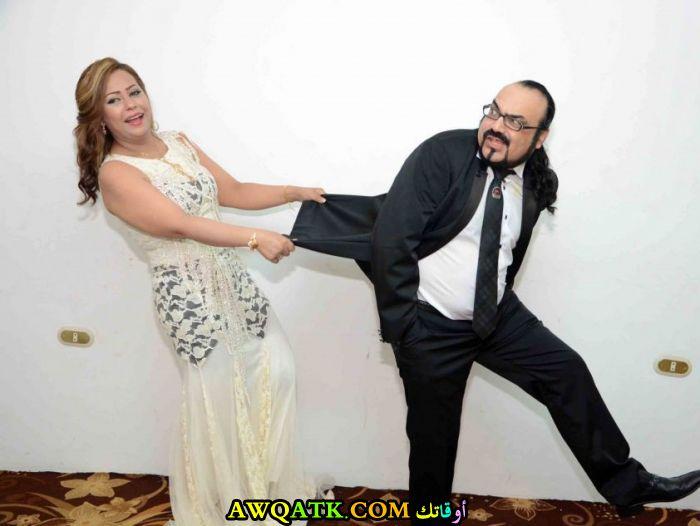 صورة الفنان ابو الليف وزوجته