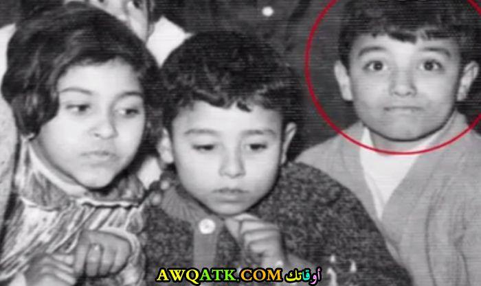 صورة الفنان ايهاب توفيق وهو طفل صورة قديمة نادرة