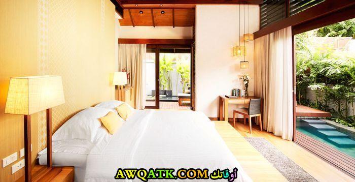 ديكور غرفة نوم فيلا جميل جداً