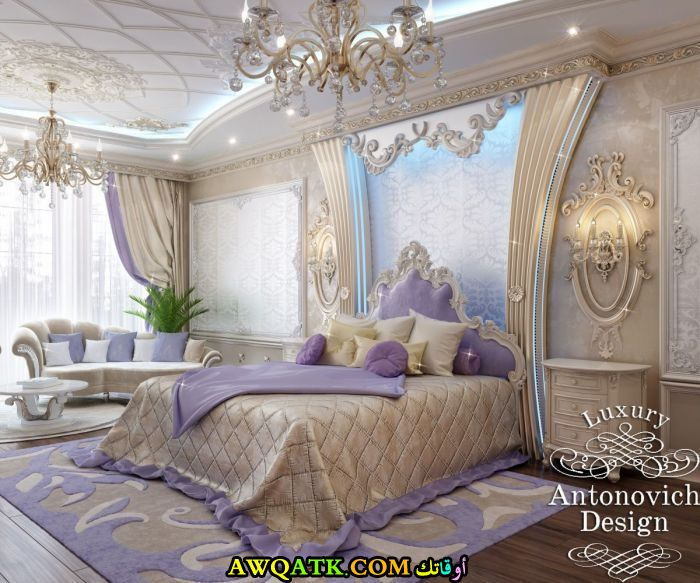 ديكور غرفة نوم فيلا فخم جداً وشيك