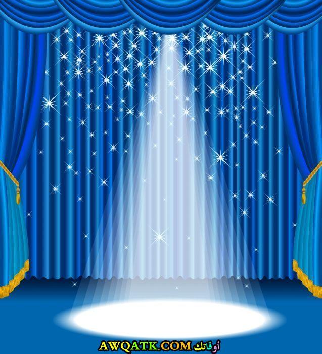 ستارة للحفلات جميلة جداً باللون الأزرق