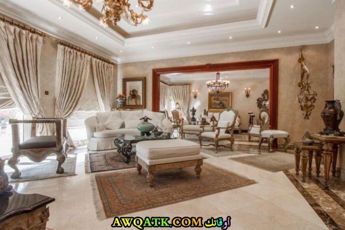 غرفة جلوس فيلا قمة الجمال والشياكة