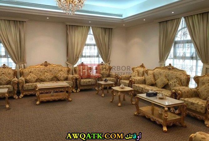 غرفة جلوس فيلا خليجية روعة وشيك