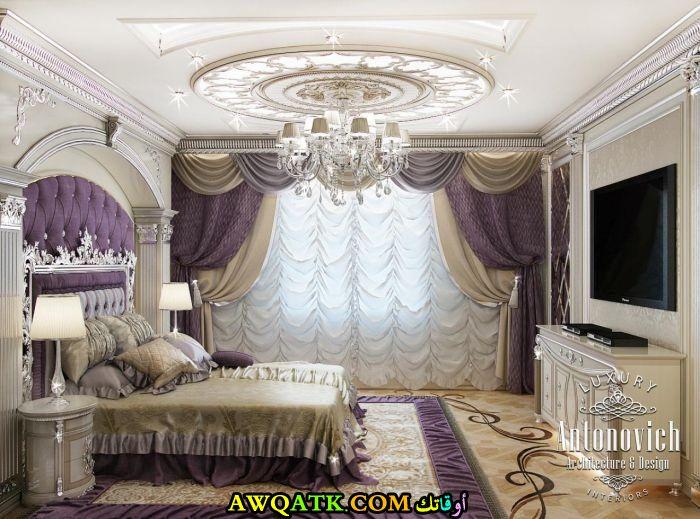 غرفة نوم فيلا فخمة جداً وقمة فى الشياكة