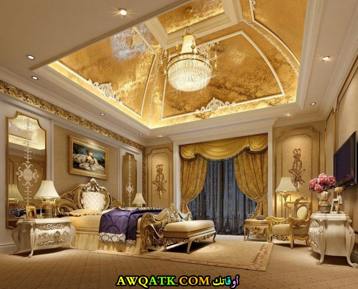 غرفة نوم فيلا فخمة جداً و فى منتهى الروعة