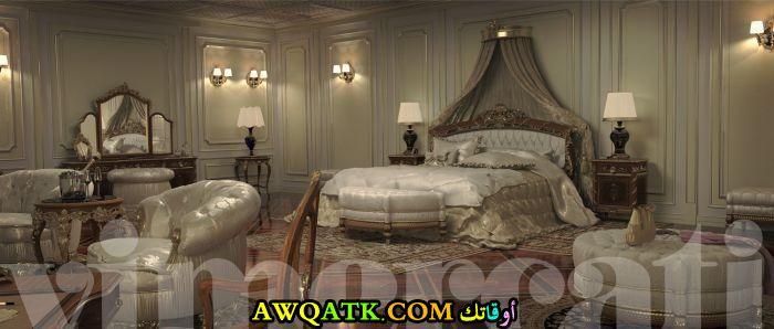 غرفة نوم فيلا كلاسيك فى منتهى الجمال