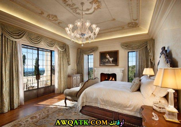 غرفة نوم فيلا كلاسيك فخمة قمة فى الشياكة والجمال