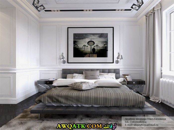 ديكور غرفة نوم فيلا كويتي هادي وراقي