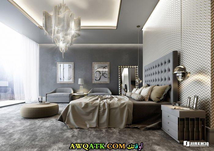 ديكور غرفة نوم فيلا كويتي هادي ورقيق
