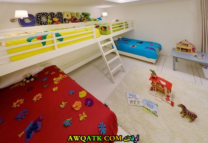 ديكور غرفة نوم فيلا للأطفال جميل جداً